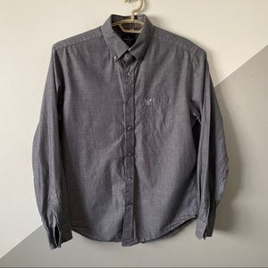 American Eagle M Cotton Chambray Button Down Shirt